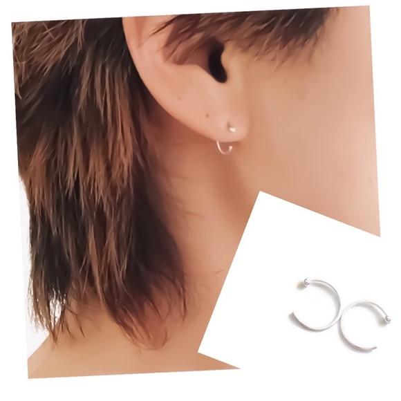 Moodtherapy Jewelry - Fine Silver Ball End Mini Hoops